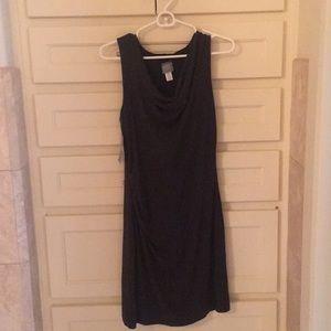 Athleta Gray/Black Inverse Drape Dress
